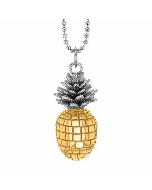 True Rocks - Metallic Large Pineapple Two Tone Necklace - Lyst