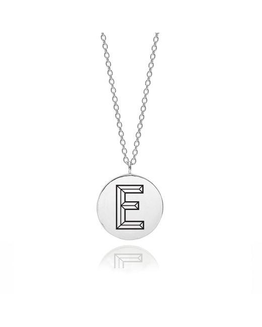 Myia Bonner - Metallic Sterling Silver Facett Initial E Pendant - Lyst