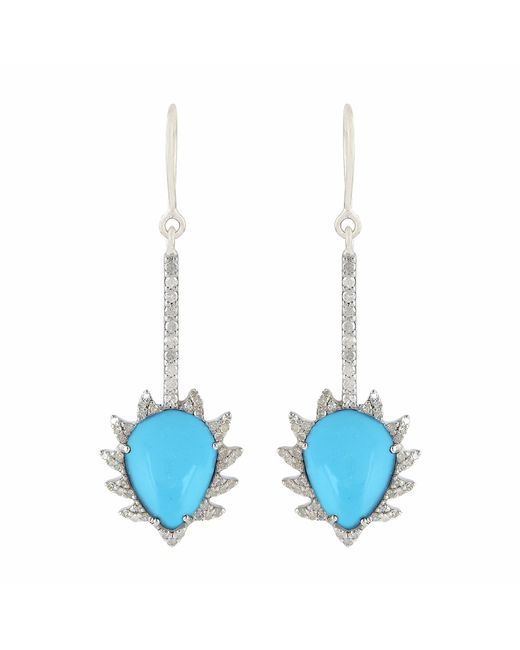 Meghna Jewels - Blue Turquoise & Diamonds - Lyst