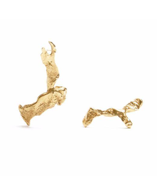 Loveness Lee | Metallic Thala Asymmetrical Gold Cuff & Drop Earrings | Lyst