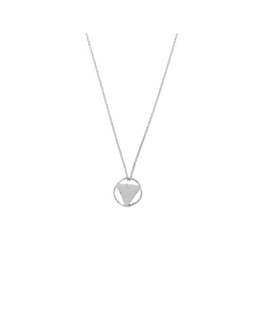 KIND Jewellery | Metallic Silver Mini Elements Disc Necklace | Lyst