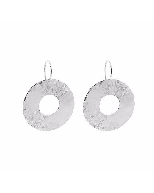 Yvonne Henderson Jewellery - Metallic Large Disc Cutout Earrings Silver - Lyst