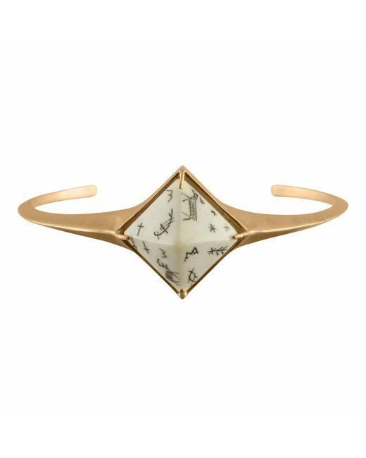 No 13 | Metallic Sami Pyramid Reindeer Bangle Sandblasted Gold Vermeil | Lyst