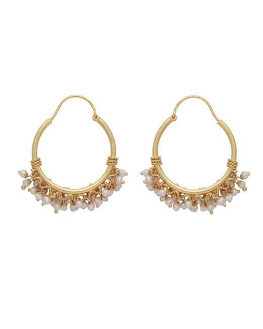 Carousel Jewels - Metallic Pearl Cluster Hoops - Lyst