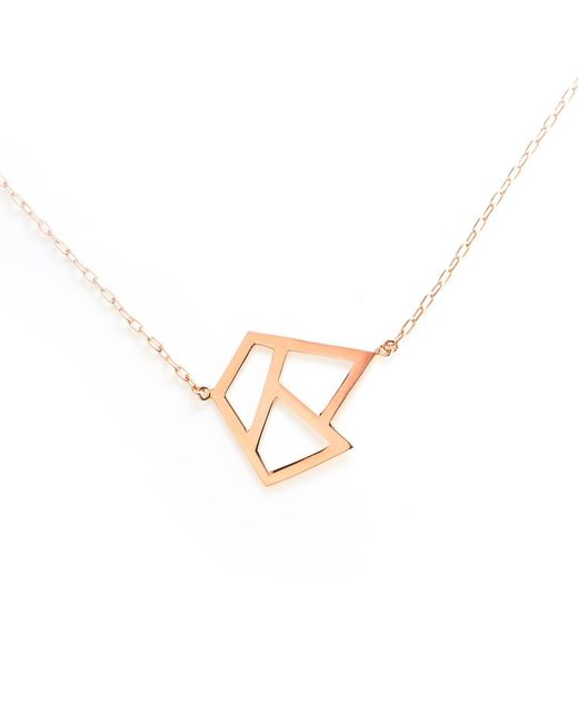 Ona Chan Jewelry | Metallic Triple Lattice Necklace With Sapphire Rose Gold | Lyst