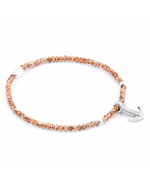 Anchor & Crew - Metallic Copper Brown Haematite Tropic Silver & Stone Bracelet - Lyst
