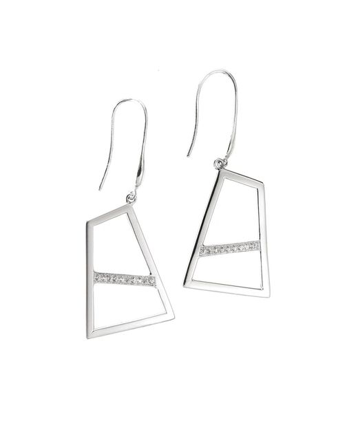 Ona Chan Jewelry | Metallic Double Drop Earring With Sapphire Silver | Lyst