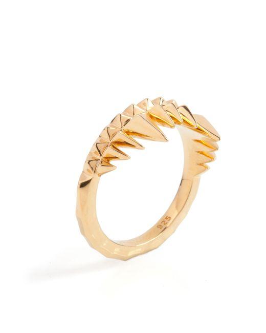 Kasun | Metallic Crocodile Bite Ring Gold | Lyst