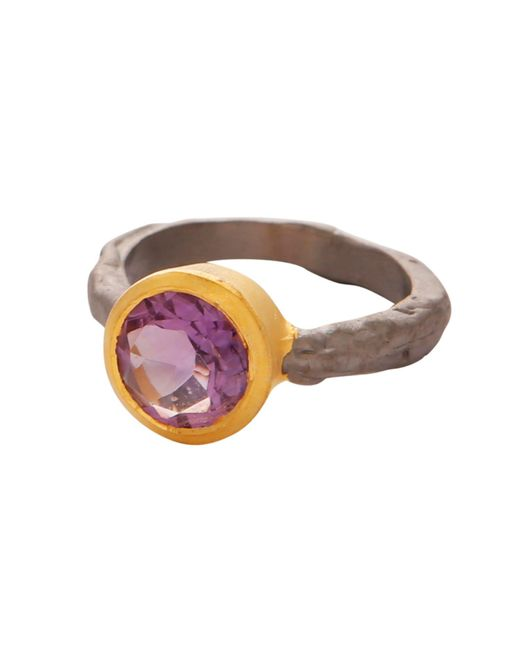 Carousel Jewels - Metallic Amethyst Gold And Silver Mix Ring - Lyst