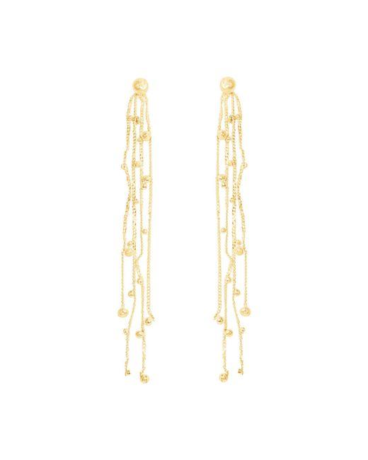Lily Flo Jewellery - Metallic Shooting Stars Solid Gold Chandelier Earrings - Lyst