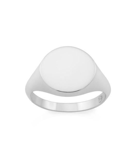 Monarc Jewellery - Metallic The Tondo Signet Ring Sterling Silver - Lyst