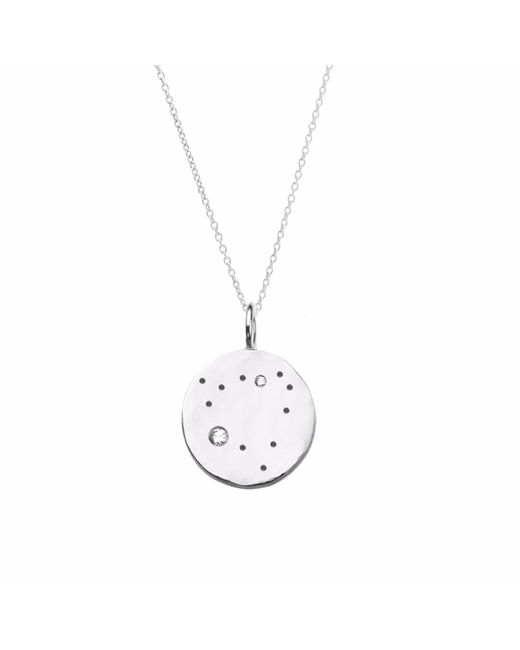 Yvonne Henderson Jewellery - Metallic Capricorn Constellation Necklace With White Sapphires Silver - Lyst