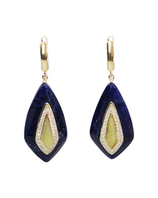 Bellus Domina | Blue Lemon Jade Festino Earrings | Lyst