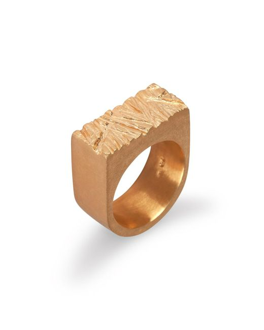 Edge Only - Metallic Rugged Ring In Gold - Lyst