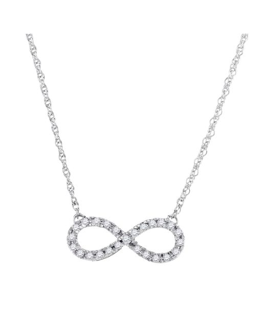 Cosanuova - Diamond Infinity Necklace In 10k White Gold - Lyst