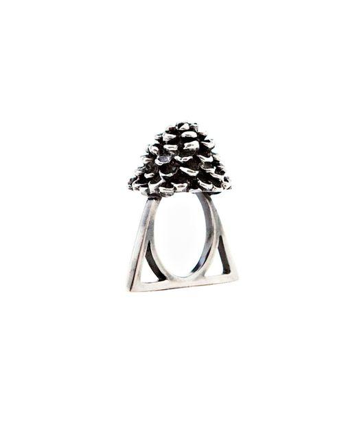 Glenda López - Metallic The Rose Triangle Ring - Lyst