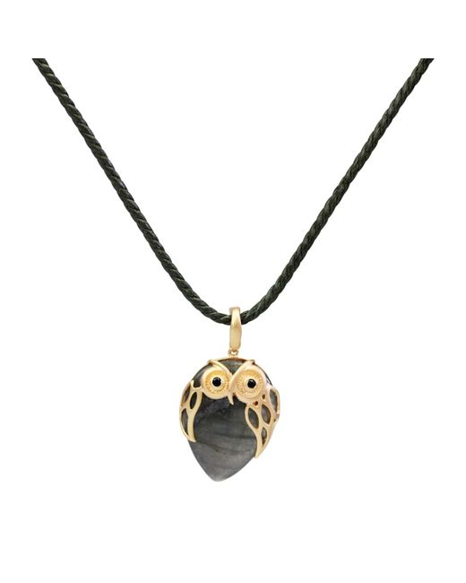 Bellus Domina - Multicolor Owl Necklace - Lyst