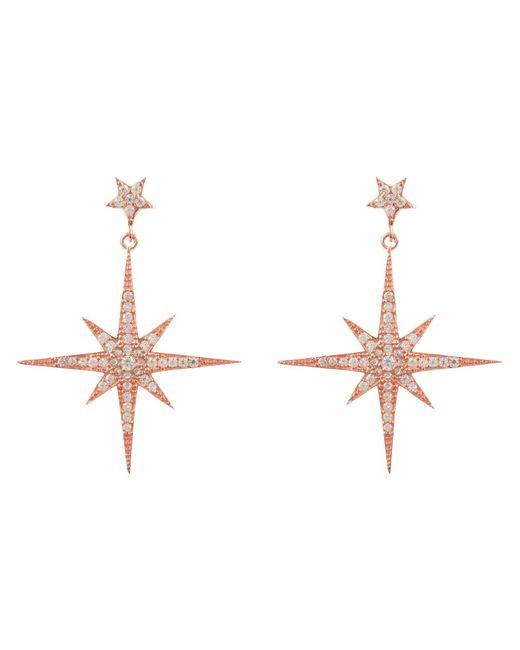 Latelita London - Multicolor Star Burst Drop Earring Rosegold - Lyst