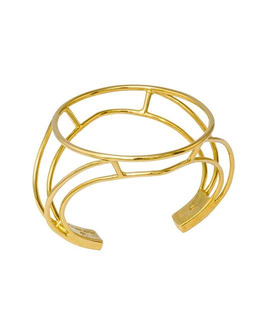 Glenda López - Metallic The Empty Signet Bracelet - Lyst