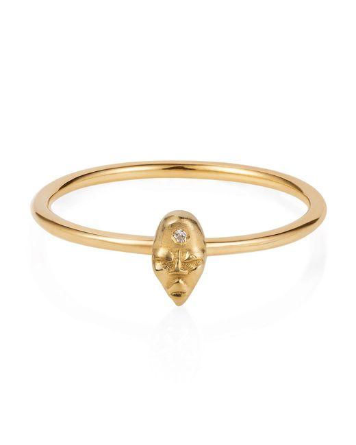 Lee Renee   Metallic Tiny Voodoo Erzulie Ring Diamond & Gold Vermeil   Lyst