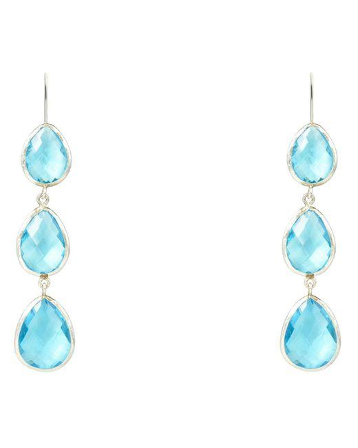 Latelita London | Multicolor Triple Drop Earring Silver Blue Topaz Hydro | Lyst