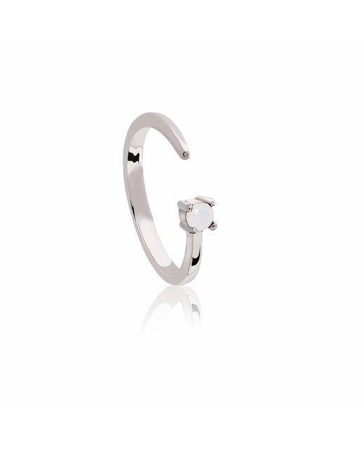 Astrid & Miyu - Metallic Libra Zodiac Ring In Silver - Lyst