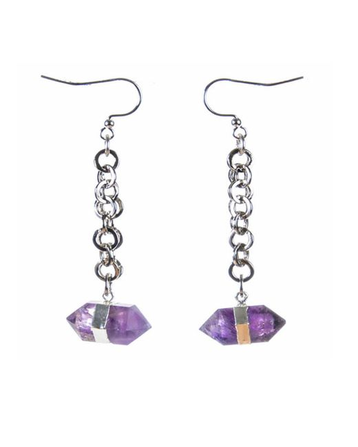 Tiana Jewel | Multicolor Goddess Amethyst Earrings Siena Collection | Lyst
