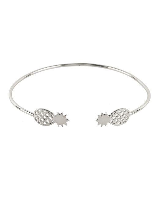 Latelita London - Metallic Cosmic Pineapple Cuff Silver - Lyst
