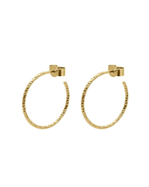 Myia Bonner - Metallic Gold Medium Diamond Hoop Earrings - Lyst
