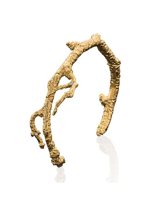 Catherine Zoraida - Metallic Apple Twig Cuff - Lyst