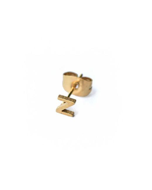 Whistle & Bango - Metallic Little Letter Z Earring 18ct Plating - Lyst
