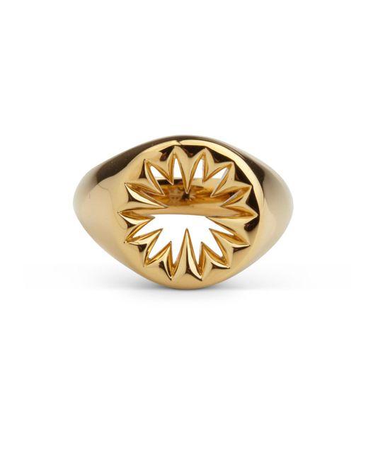 Kasun - Metallic Wild Crocodile Signet Ring Gold - Lyst