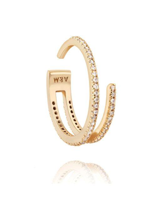 Astrid & Miyu - Metallic The Wishbone Ring In Gold - Lyst