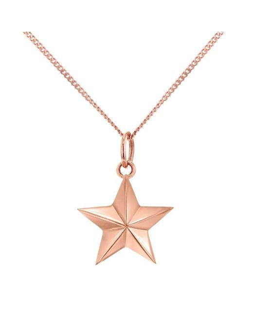 True Rocks - Metallic Large Star Necklace Rose Gold - Lyst
