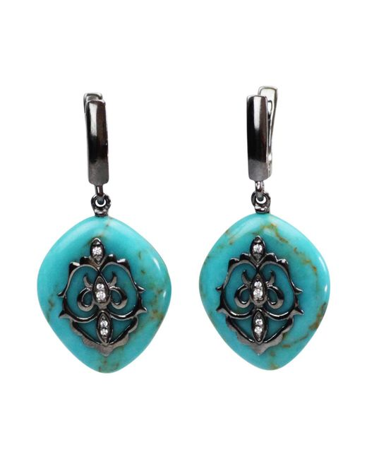 Bellus Domina - Blue Turquoise Earrings - Lyst