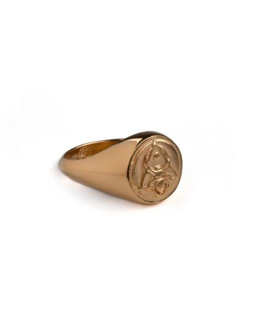 Rachel Entwistle   Metallic The Creation Signet Ring Gold   Lyst