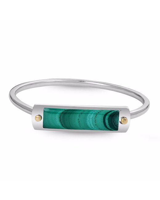 LMJ - Green Malachite Big Id Cuff Bracelet for Men - Lyst
