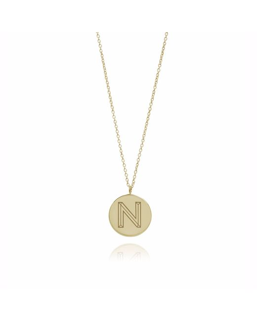 Myia Bonner - Metallic Gold N Facett Initial Necklace - Lyst
