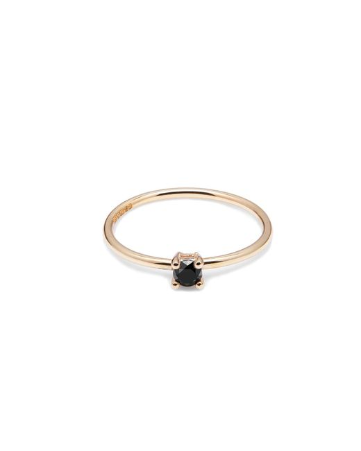 Myia Bonner - Metallic 9ct Yellow Gold & Black Diamond Solitaire Ring - Lyst