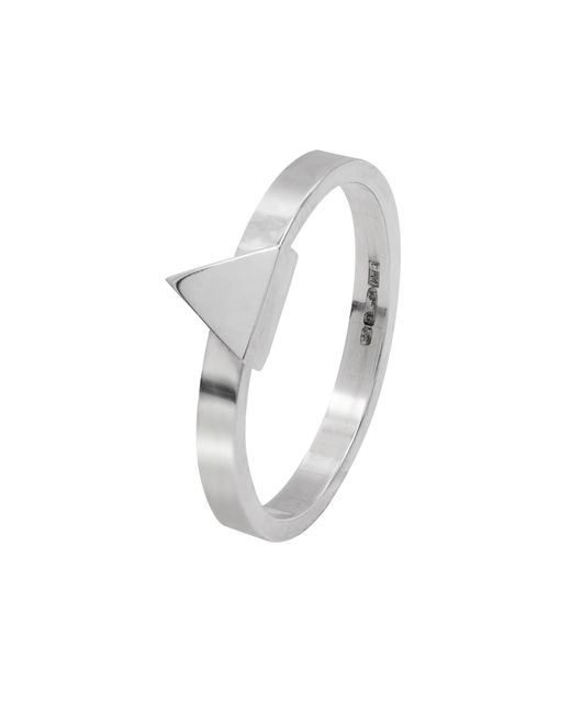 Edge Only - Metallic Triangle Stacking Ring Silver - Lyst