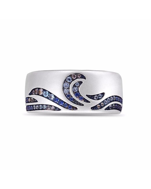 LMJ - Metallic Surf's Up Stone Band Ring - Lyst