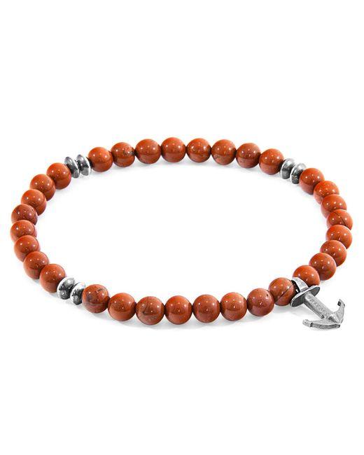Anchor & Crew - Red Jasper Starboard Natural Stone Bracelet for Men - Lyst