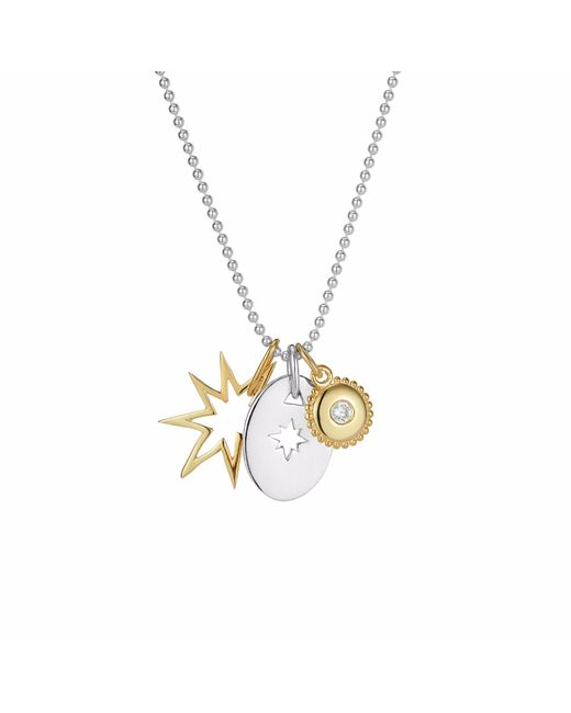 One and One Studio - Metallic Gold & Silver Star Jewel Pendant Set - Lyst