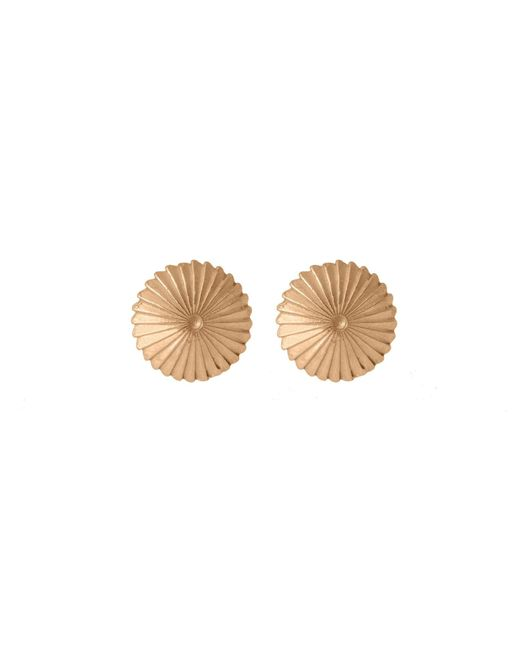 Edge Only - Metallic Spiral Burr Earrings In 14ct Gold - Lyst