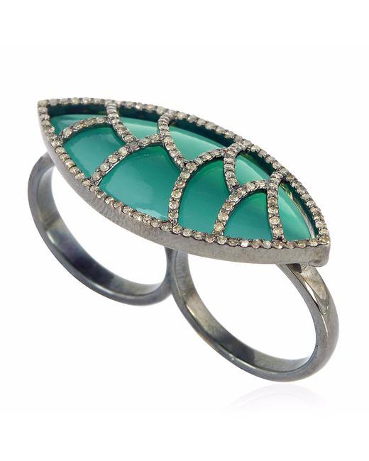 Meghna Jewels | Bora Bora Ring Green Onyx & Diamonds | Lyst