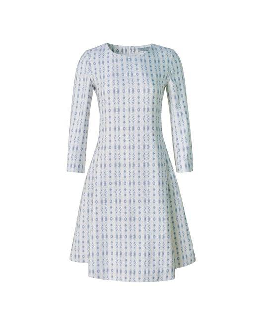 Xllullan - White Aria Metallic Italian Jacquard Cocktail Dress - Lyst