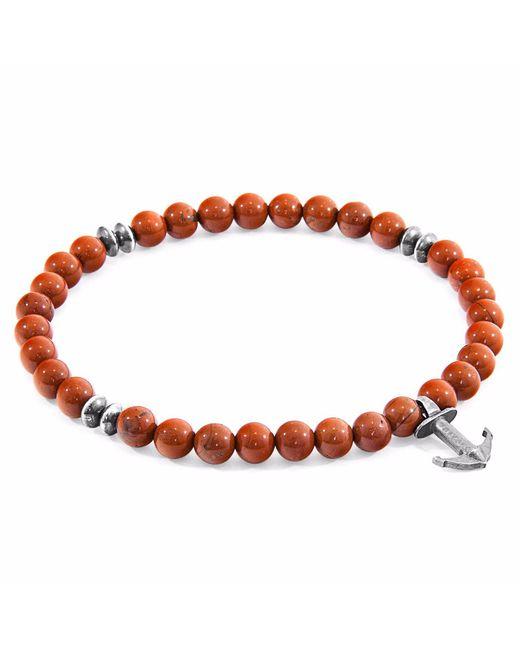 Anchor & Crew | Red Jasper Starboard Natural Stone Bracelet for Men | Lyst