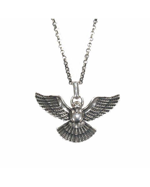 Serge Denimes - Metallic Dove Silver Necklace for Men - Lyst
