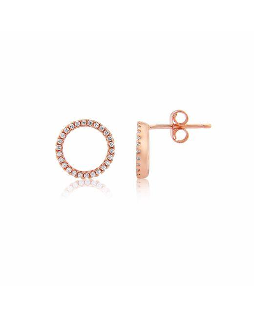 Auree Jewellery - Metallic Chora Rose Gold & Cubic Zirconia Earrings - Lyst