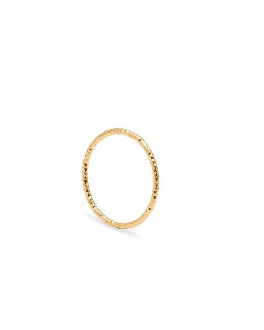 Myia Bonner - Metallic Gold Skinny Diamond Faceted Stacking Ring - Lyst